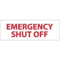 Emergency Shutoff Sign (#M347)