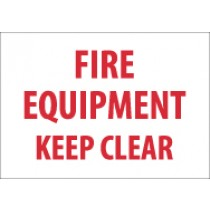 Fire Equipment Keep Clear Sign (#M417)
