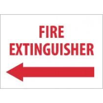 Fire Extinguisher Sign (left arrow) (#M419)