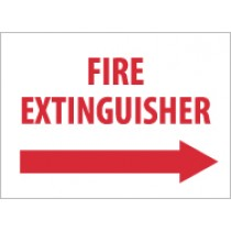 Fire Extinguisher Sign (right arrow) (#M420)