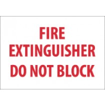 Fire Extinguisher Do Not Block Sign (#M421)