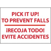 Pick It Up! To Prevent Falls Spanish Sign (#M439)