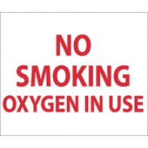 No Smoking Oxygen In Use Sign (#M48P)