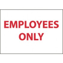 Employees Only Sign (#M57)