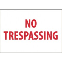 No Trespassing Sign (#M58)