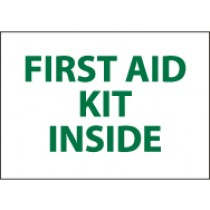 First Aid Kit Inside Sign (#M65)