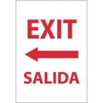 Exit (left arrow) Spanish Sign (#M697)