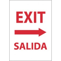 Exit (right arrow) Spanish Sign (#M698)