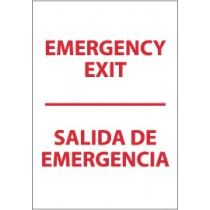 Emergency Exit Spanish Sign (#M699)