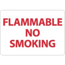 Flammable No Smoking Sign (#M702)