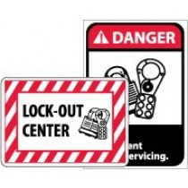 Lock-Out Center Sign (#M706)