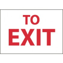 To Exit Sign (#M71)