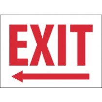 Exit (left arrow) Glow Sign (#MEL)