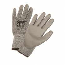 Gray HPPE Fiber/Lycra Gray Shell PU Coated Gloves (#MI720DGU)