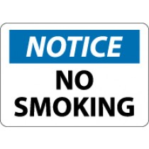 Notice No Smoking Sign (#N166LF)