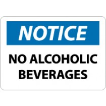 Notice No Alcoholic Beverages Sign (#N303)