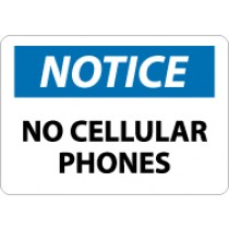 Notice No Cellular Phones Sign (#N304)