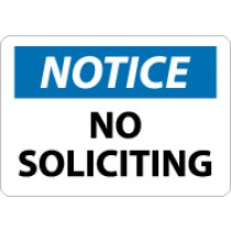 Notice No Soliciting Sign (#N317)