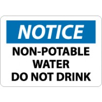 Notice Non-Potable Water Do Not Drink Sign (#N321)