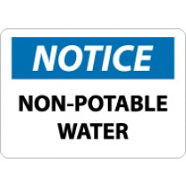 Notice Non-Potable Water Sign (#N322)