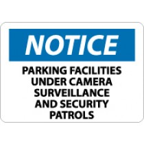 Notice Parking Facilities Under Camera Surveillance And Security Patrols Sign (#N326)