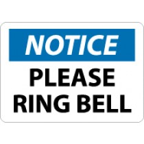 Notice Please Ring Bell Sign (#N330)