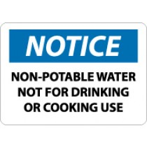 Notice Non Potable Water Not For Drinking Or Cooking Use Sign (#N50)