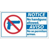 Notice No Handguns Allowed Spanish Sihn (#NBA1)