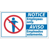 Notice Employees Only Spanish Sign (#NBA3)