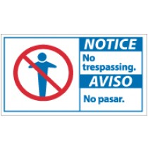 Notice No Trespassing Spanish Sign (#NBA5)