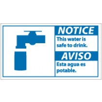 Notice This Water Is Safe To Drink Spanish Sign (#NBA6)