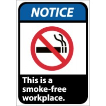 Notice This is a smoke-free workplace ANSI Sign (#NGA1)