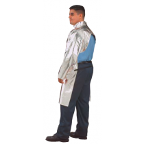 "19oz. Aluminized Carbon Kevlar 50"" Open Back Coat (#564-ACK-50)"