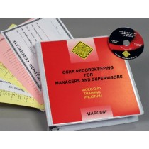 OSHA Recordkeeping for Managers and Supervisors DVD Program (#V0003459EO)