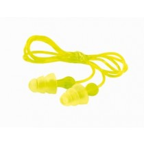 3M Tri-Flange Earplugs, corded (#P3000)