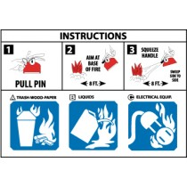 Fire Pictorial Marker/Usage Instruction (#PCIABC)
