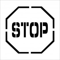 Stop Symbol Plant Marking Stencil (#PMS203)