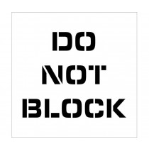 Do Not Block Plant Marking Stencil (#PMS224)