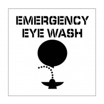 Emergency Eye Wash Plant Marking Stencil (#PMS227)