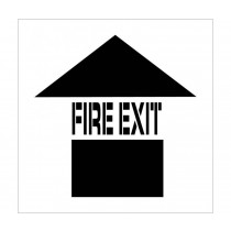 Fire Exit Plant Marking Stencil (#PMS228)