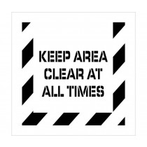 Keep Area Clear At All Times Plant Marking Stencil (#PMS232)