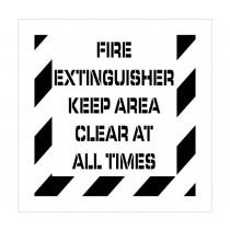 Fire Extinguisher Plant Marking Stencil (#PMS233)