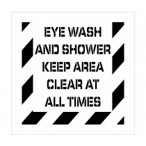 Eye Wash Ans Shower Plant Marking Stencil (#PMS237)