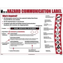 Hazard Communication Label, GHS Poster (#PST129)