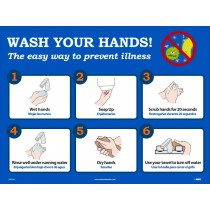 WASH YOUR HANDS POSTER (#PST137)