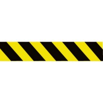 Yellow/Black Stripe Barricade Tape(#PT65-200)