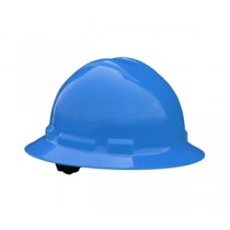 Quartz Full Brim Hard Hat, Blue, 4 point ratchet (#QHR4-BLUE)
