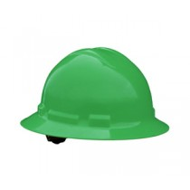 Quartz Full Brim Hard Hat, Green, 4 point ratchet (#QHR4-GREEN)
