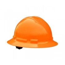 Quartz Full Brim Hard Hat, Hi Viz Orange, 6 point pinlock (#QHP6-ORANGE-HI-HIZ)