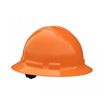 Quartz Full Brim Hard Hat, Orange, 4 point ratchet (#QHR4-ORANGE)